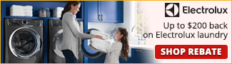 Up to $200 back in Electrolux Laundry
