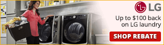 Up to $100 back on LG Laundry