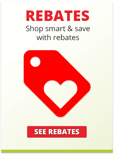 Shop smart, and save with rebates
