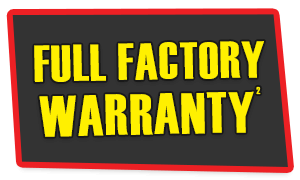 Full Factory Warranty Included