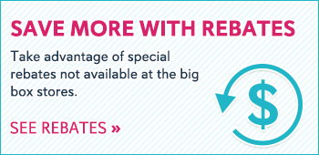 Save even more with rebates