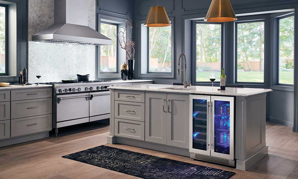 Zephyr Titan Hood & Preserv French Door Wine Kitchen