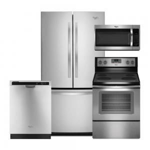 Whirlpool4-Piece Stainless Steel Kitchen Package
